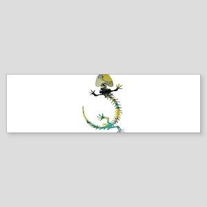 Salamander Skeleton Bumper Sticker