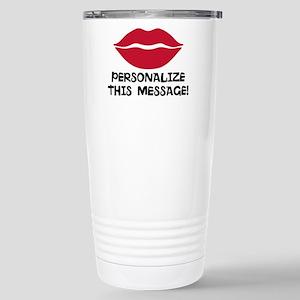 PERSONALIZED Red Lips Travel Mug