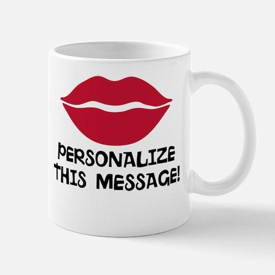 PERSONALIZED Red Lips Mugs