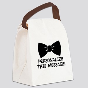 PERSONALIZED Cute Bow Tie Canvas Lunch Bag