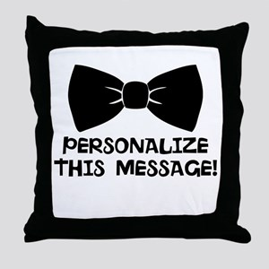 PERSONALIZED Cute Bow Tie Throw Pillow