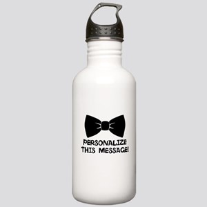 PERSONALIZED Cute Bow Tie Water Bottle