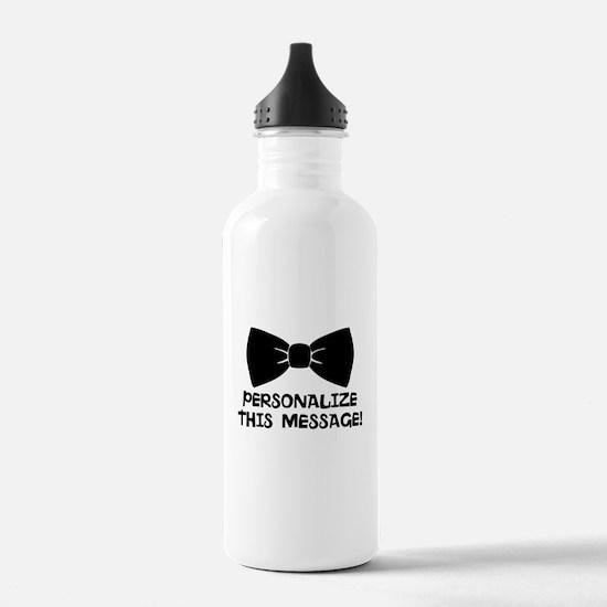 PERSONALIZED Cute Bow Tie Water Bottle