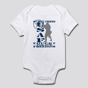 Best Friend Fought Freedom - USAF Infant Bodysuit