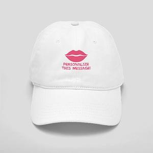 PERSONALIZED Pink Lips Baseball Cap