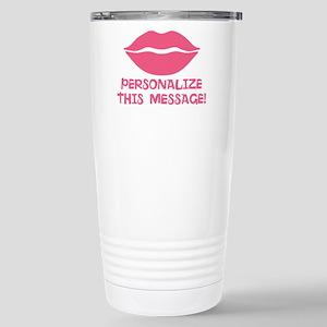 PERSONALIZED Pink Lips Travel Mug