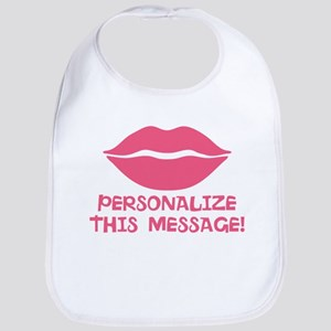 PERSONALIZED Pink Lips Bib