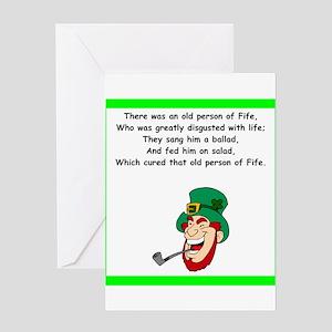 irish limerick Greeting Cards