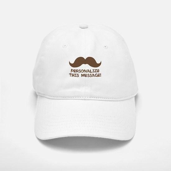 PERSONALIZED Brown Mustache Baseball Baseball Baseball Cap