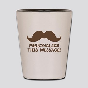 PERSONALIZED Brown Mustache Shot Glass