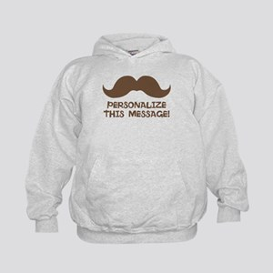 PERSONALIZED Brown Mustache Hoodie