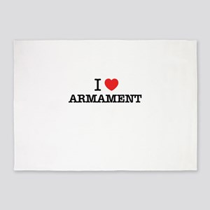 I Love ARMAMENT 5'x7'Area Rug