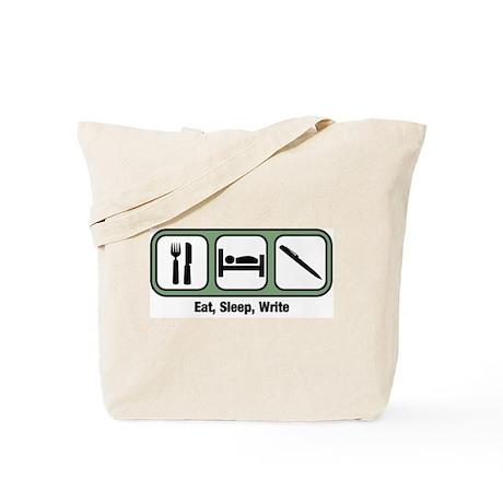Eat, Sleep, Writing Tote Bag