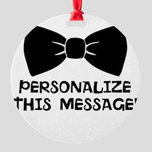 PERSONALIZED Cute Bow Tie Ornament