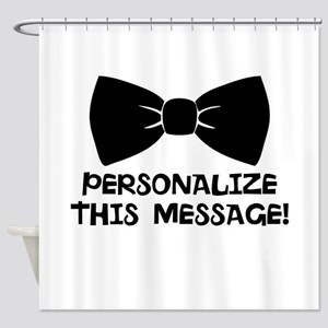 PERSONALIZED Cute Bow Tie Shower Curtain