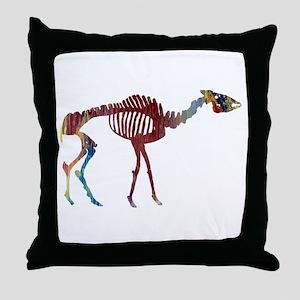 Helladotherium Skeleton Throw Pillow