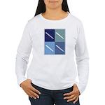 Writing (blue boxes) Women's Long Sleeve T-Shirt