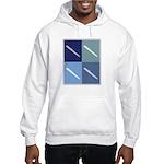 Writing (blue boxes) Hooded Sweatshirt