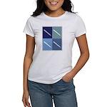Writing (blue boxes) Women's T-Shirt