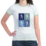 Womens Volleyball (blue boxes Jr. Ringer T-Shirt
