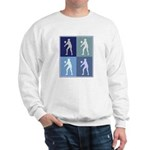 Womens Volleyball (blue boxes Sweatshirt