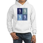 Womens Volleyball (blue boxes Hooded Sweatshirt
