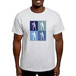 Womens Volleyball (blue boxes Light T-Shirt