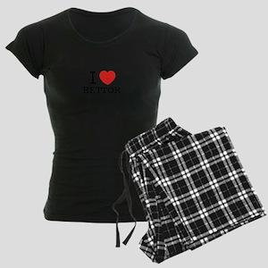 I Love BETTOR Women's Dark Pajamas