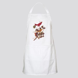Summer Red Bird Vintage Audubon Light Apron