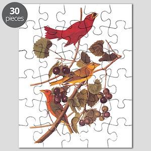 Summer Red Bird Vintage Audubon Puzzle