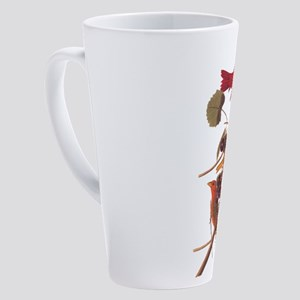 Summer Red Bird Vintage Audubon 17 oz Latte Mug