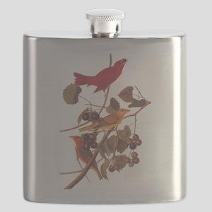 Summer Red Bird Vintage Audubon Flask