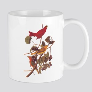Summer Red Bird Vintage Audubon Mugs
