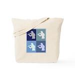 Violin (blue boxes) Tote Bag