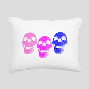 Bi Pride Skulls Rectangular Canvas Pillow