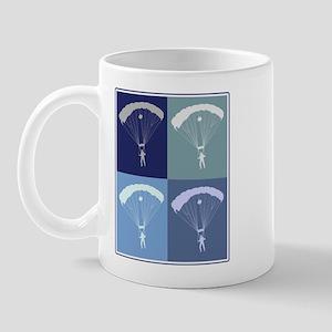 Skydiving (blue boxes) Mug