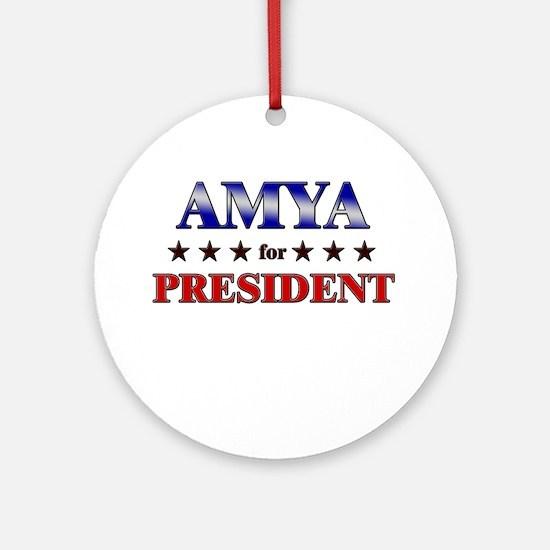 AMYA for president Ornament (Round)