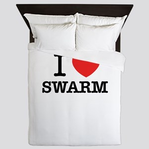I Love SWARM Queen Duvet