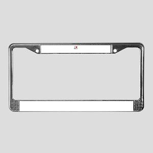 I Love BELLO License Plate Frame