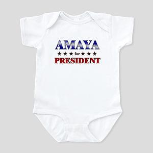 AMAYA for president Infant Bodysuit