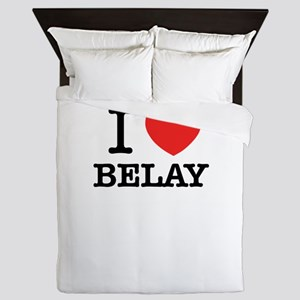 I Love BELAY Queen Duvet