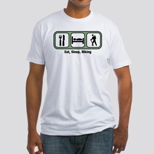 Eat, Sleep, Hiking Fitted T-Shirt