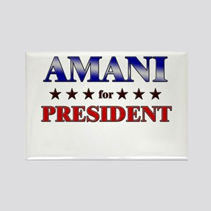 AMANI for president Rectangle Magnet