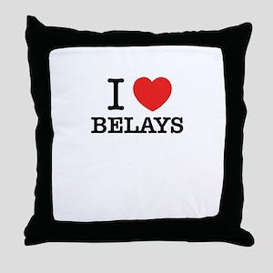 I Love BELAYS Throw Pillow