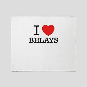 I Love BELAYS Throw Blanket