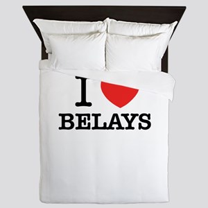 I Love BELAYS Queen Duvet