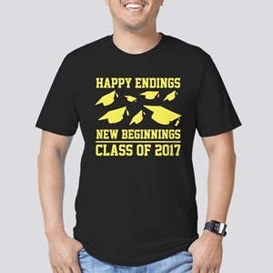 Class Of 2017 Men's Fitted T-Shirt (dark)