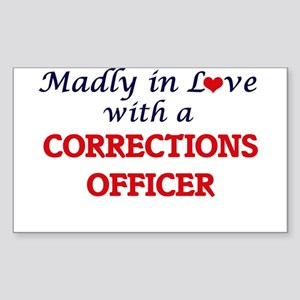Madly in love with a Corrections Officer Sticker