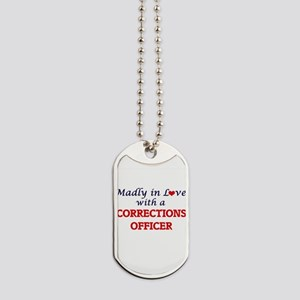 Madly in love with a Corrections Officer Dog Tags