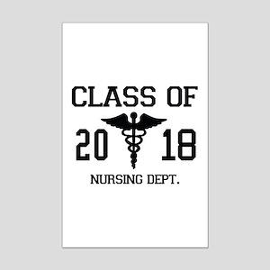 Class Of 2018 Nursing Dept Mini Poster Print